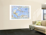 1970 West Indies and Central America Map Wall Mural
