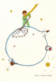 Petit Prince and the Volcanoes Prints by Antoine de Saint-Exupéry