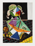 Maya with Sail Boat Collectable Print by Pablo Picasso