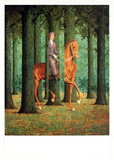 Le Blanc-Seing Affiche par Rene Magritte