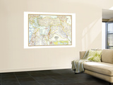 1967 Lands of the Bible Today Map Wall Mural by  National Geographic Maps