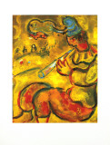 The Yellow Clown Prints by Marc Chagall