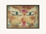 Cat and Bird Collectable Print by Paul Klee