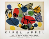 Sunbathing Animal Collectable Print by Karel Appel