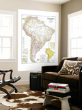 1950 South America Map Wall Mural