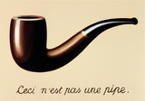 La Trahison des Images Print by Rene Magritte