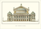 Paris, Theatre de l'Opera, Paris Posters by Charles Garnier