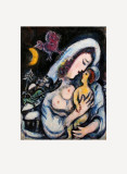 Motherhood Print by Marc Chagall