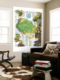 1992 Amazonia, a World Resource At Risk Map Wall Mural by  National Geographic Maps