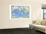 1970 World Map Wall Mural by  National Geographic Maps
