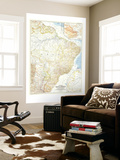 1955 Eastern South America Map Wall Mural by  National Geographic Maps