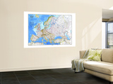 1983 Europe Map Wall Mural