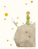 Petit Prince et son Asteroide B 612 Posters by Antoine de Saint-Exupéry