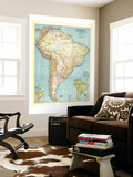 1942 South America Map Wall Mural