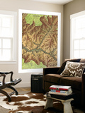 1978 Heart of the Grand Canyon Map Wall Mural by  National Geographic Maps