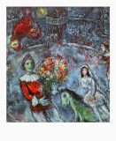 The Purple Rooster Print by Marc Chagall