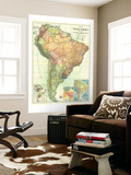 1921 South America Map Wall Mural