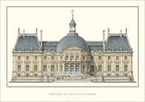 Chateau de Vaux-le-Vicomte, Maincy Prints by Louis Le Vau