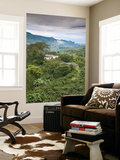 Colombia, Caldas, Manizales, Chinchina, Coffee Plantation at Hacienda De Guayabal at Dawn Wall Mural by Jane Sweeney
