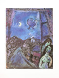 Window in the Evening Posters by Marc Chagall
