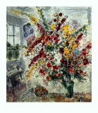 Window Bouquet Collectable Print by Marc Chagall