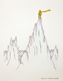 Petit Prince on Top of the Mountain Posters by Antoine de Saint-Exupéry
