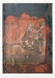 Relief in Brick Color Collectable Print by Antoni Tapies