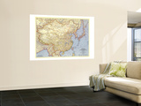 1945 China Map Wall Mural by  National Geographic Maps