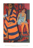 Self-Portrait with Model Print by Ernst Ludwig Kirchner