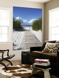 Boardwalk Leading to Beach, Liepaja, Latvia Reproduction murale géante par Ian Trower
