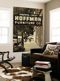 USA, Alabama, Mobile, Dauphin Street, Old Neon Sign for Hoffman Furniture Mural por Walter Bibikow