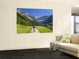 Walker, Cirque De Gavarnie, Pyrenees National Park, Hautes-Pyrenees, Midi-Pyrenees, France Wall Mural by Doug Pearson