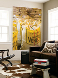 Colombia, Caldas, Manizales, Hacienda Venecia, Coffee in Sisal Bags Ready for Export Wall Mural by Jane Sweeney