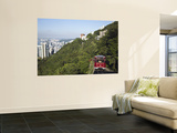 The Peak Tram Ascending Victoria Peak, Hong Kong, China Wall Mural by Ian Trower