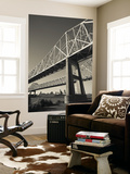 USA, Louisiana, New Orleans, the Greater New Orleans Bridge and Mississippi River Wall Mural by Walter Bibikow