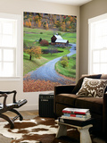 USA, New England, Vermont, Woodstock, Sleepy Hollow Farm in Autumn/Fall Wall Mural by Michele Falzone