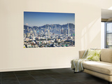 City Skyline of Kowloon and Hong Kong Island from Lion Rock, Hong Kong, China Wall Mural by Ian Trower