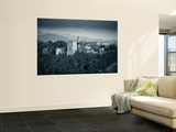 Black and White Image of Alhambra Palce, Granada, Andalucia, Spain Wall Mural by Alan Copson