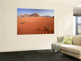 Desert Sands, Wadi Rum Desert and Jebel Qattar Mountain, Jordan Wall Mural by Michele Falzone