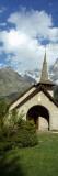 Church Near a Mountain, Les Praz De Chamonix, Aiguille Du Dru, Chamonix, Haute-Savoie Photographic Print