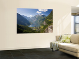 Cruise Ships, Geirangerfjord, Western Fjords, Norway Wall Mural by Peter Adams