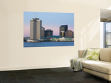 USA, Louisiana, New Orleans, World Trade Center and the Mississippi River Wall Mural by Walter Bibikow
