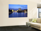 Notre Dame Cathedral and River Seine, Paris, France Wall Mural by Jon Arnold