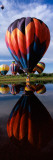 Reflection of Hot Air Balloons in a Lake, Hot Air Balloon Rodeo, Steamboat Springs, Routt County Fotografisk trykk