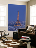 Eiffel Tower and Skyline of Paris, France Mural por Jon Arnold