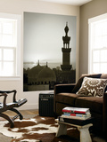 Egypt, Cairo, Islamic Quarter, Silhouette of Minarets and Mosques Wall Mural by Michele Falzone