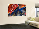 USA, New York City, Manhattan, Times Square, Neon Lights of 42nd Street Wall Mural by Gavin Hellier