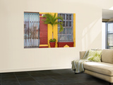 Colombia, Bolivar, Cartagena De Indias, Old Walled City, Windows of Colonial House Wall Mural by Jane Sweeney