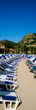 Lounge Chairs on the Beach, Theoule-Sur-Mer, Alpes-Maritimes, Provence-Alpes-Cote D'Azur, France Photographic Print