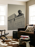 USA, Alabama, Selma, Civil Rights Struggle Site, Bust of Rev. Martin Luther King, Jr. Wall Mural by Walter Bibikow